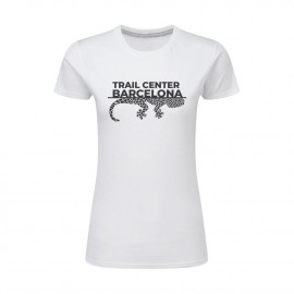 Camiseta Mujer Blanca Trail Center Barcelona