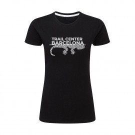 Camiseta Mujer Negra Trail Center Barcelona