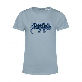 Camiseta Orgánica Mujer Azul Trail Center Barcelona