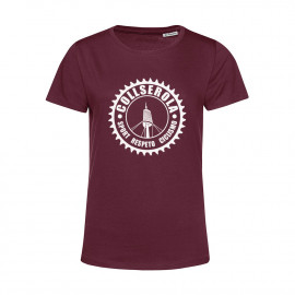 Camiseta Orgánica Mujer Granate CSRC